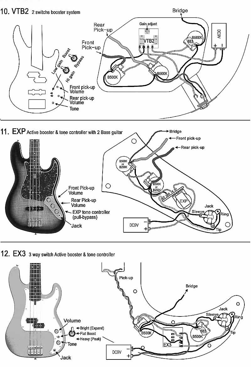 Fender Active Jazz B Wiring Diagram | Wiring Liry on
